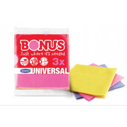 BONUS krpice Universal, 3 kos (alt.törlökendö)