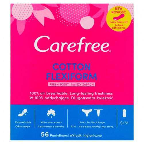 CAREFREE COTTON FLEXIFORM FRESH ščitniki perila, 56 kos C52480