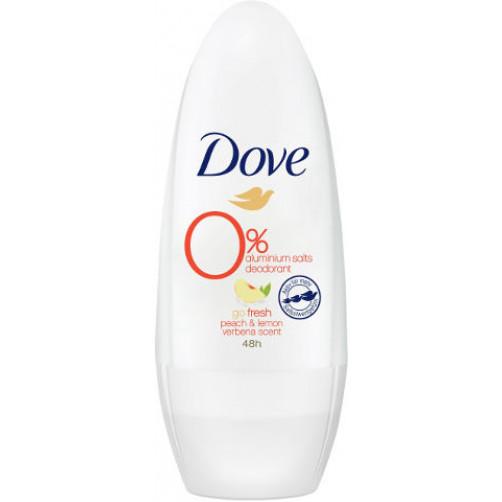 Dove dezodorant roll-on Go fresh, Peach&Lemon, 50ml ženski