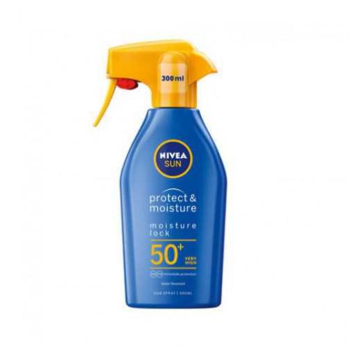 NIVEA SUN PROTECT&MOISTURE sprej za zaščito kože pred soncem, ZF 50+, 300ml C51580