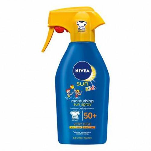 NIVEA SUN KIDS MOISTURISING sprej za zaščito otroške kože pred soncem, ZF 50+, 300ml C48489