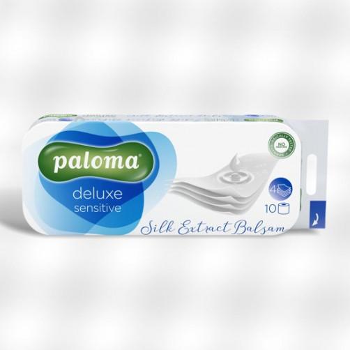 PALOMA DELUXE SENSITIVE toaletni papir, 4-sloj,125 lističev, 10/1