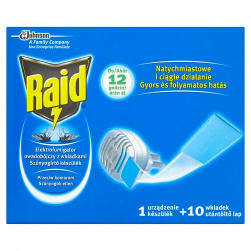 RAID električni aparat in tablete za odganjanje komarjev, 1+10 kos  C37374