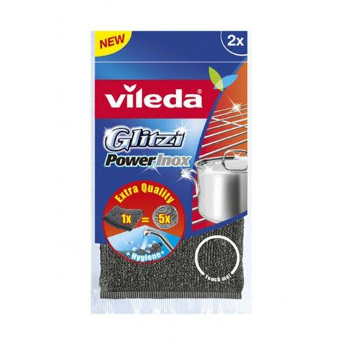 VILEDA GOBICA GLITZI INOX POWER, 2 kos   C39271