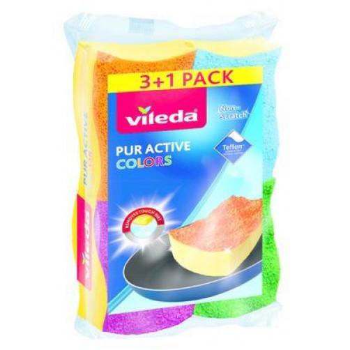VILEDA GOBICA ZA POMIVANJE PUR ACTIVE COLORS, 3+1 kos   C38823