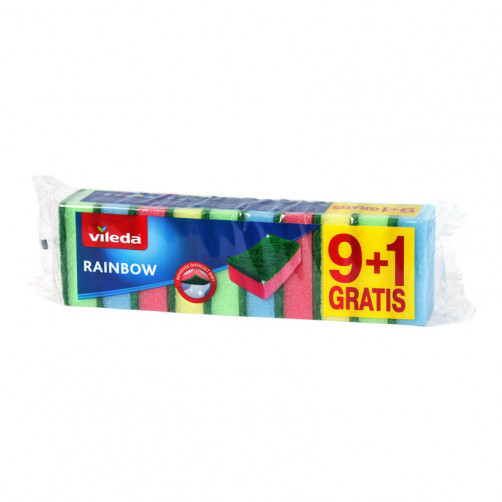 VILEDA GOBICE RAINBOW, 9+1 kos   C41701